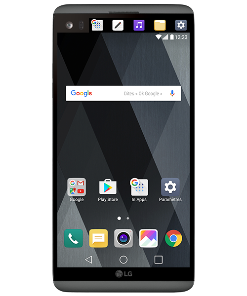 Turning the Second Screen On and Off — LG V20
